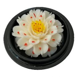 Fleur de savon sculptée: Lotus Blanc
