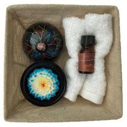 panier Fleur de savon sculpté : joubarbe cadeau original